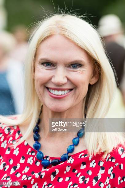 Anneka Rice attends RHS Chelsea Flower Show press day at Royal Hospital Chelsea on May 22 2017 in London England