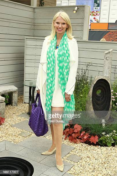 Anneka Rice attends the Chelsea Flower Show press and VIP preview day at Royal Hospital Chelsea on May 20 2013 in London England