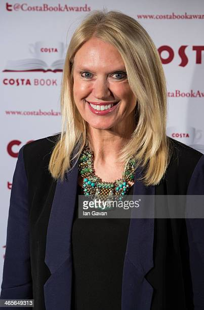 Anneka Rice attends the Costa Book of the Year awards at Quaglino's on January 28 2014 in London England