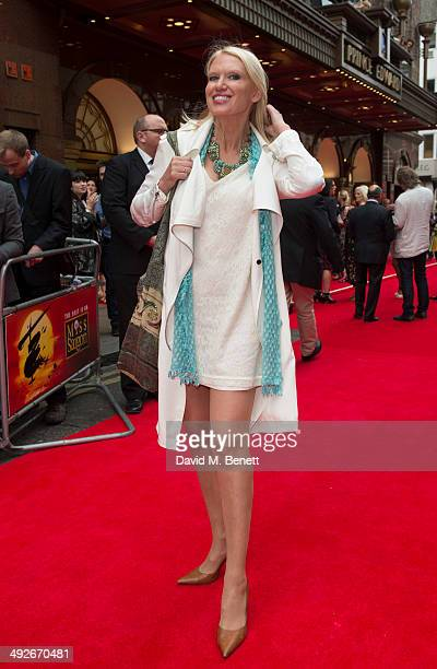 Anneka Rice attends the press night performance of 'Miss Saigon' at the Prince Edward Theatre on May 21 2014 in London England
