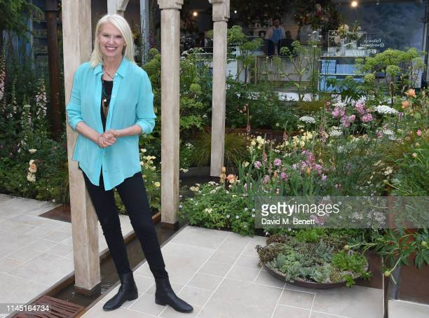 Anneka Rice attends the RHS Chelsea Flower Show 2019 press day on May 20 2019 in London England