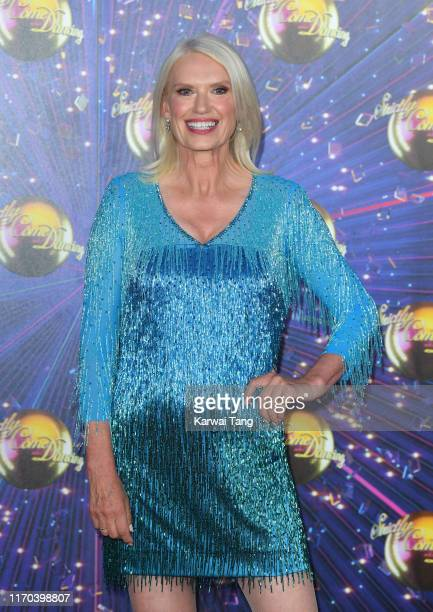 Anneka Rice attends the Strictly Come Dancing launch show red carpet arrivals at Television Centre on August 26 2019 in London England
