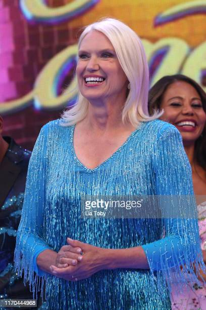 Anneka Rice attends the Strictly Come Dancing launch show red carpet at Television Centre on August 26 2019 in London England