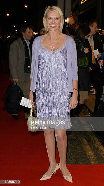 Anneka Rice during Mary Poppins West End Opening Night at Prince Edward's Theatre in London Great Britain