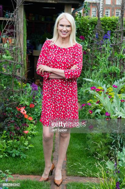 Anneka Rice in the Anneka Rice Cutting Garden during RHS Chelsea Flower Show press day at Royal Hospital Chelsea on May 22 2017 in London England