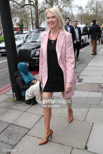 Anneka Rice seen arriving for the TRIC Awards at Grosvenor House on March 10 2020 in London England
