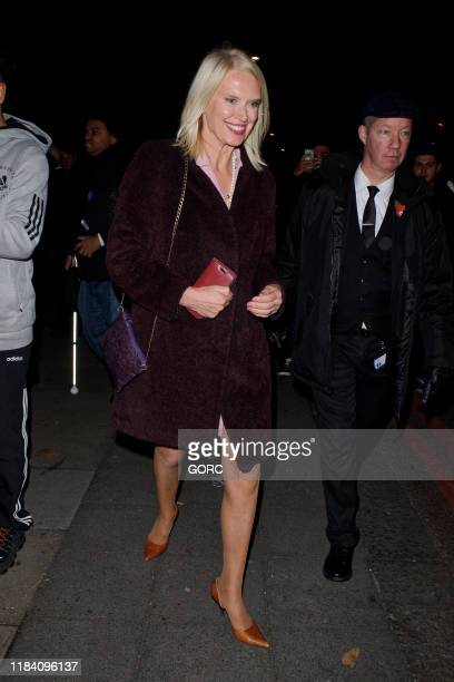 Anneka Rice seen leaving the Pride of Britain Awards at the Grosvenor hotel in Mayfair on October 28 2019 in London England