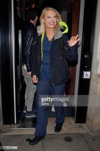 Anneka Rice seen leaving TV studios after recording Strictly It Takes Two on October 04 2019 in London England