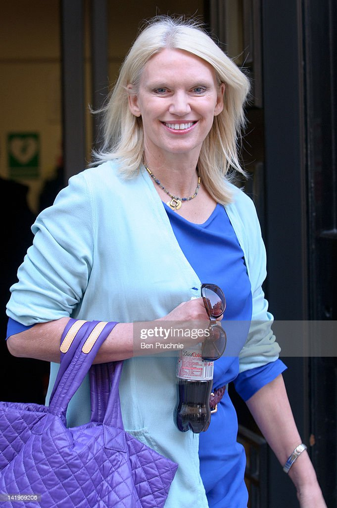 Anneka Rice sighted departing BBC Radio 2 on March 27, 2012 in London, England.