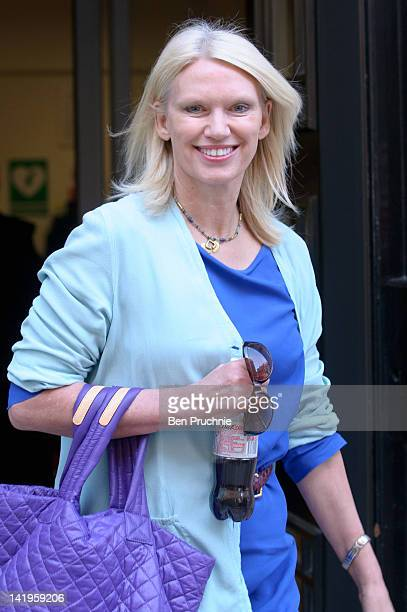 Anneka Rice sighted departing BBC Radio 2 on March 27 2012 in London England