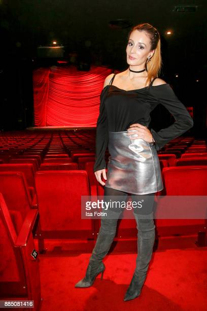 AnneKathrin Ertl partner of German soccer player Matthias Ostrzolek attends the 'Kinky Boots' Musical Premiere at Stage Operettenhaus on December 3...