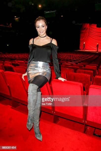 AnneKathrin Ertl partner of German soccer player Matthias Ostrzolek attends the 'Kinky Boots' Musical Premiere at Stage Operettenhaus on December 3...