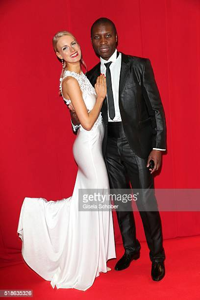 AnneKathrin Kosch and her partner Thierry Bisso during the 7th 'Filmball Vienna' at City Hall on April 1 2016 in Vienna Austria