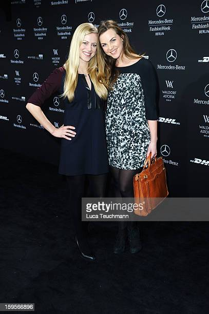 Anneke Duerkopp and Annika Kipp attends Minx By Eva Lutz Autumn/Winter 2013/14 fashion show during MercedesBenz Fashion Week Berlin at Brandenburg...