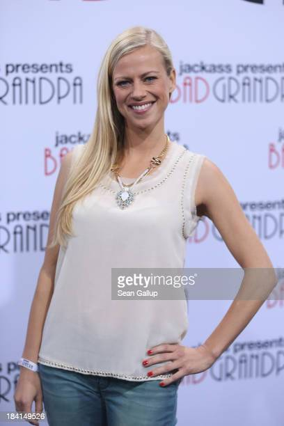 Anneke Duerkopp attends the 'Jackass Presents Bad Grandpa' Germany Premiere at Kino in der Kulturbrauerei on October 11 2013 in Berlin Germany
