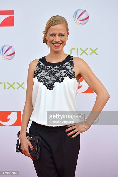Anneke Duerkopp attends the program presentation of the television channel ProSiebenSat1 at Hamburg Cruise Centre Altona on July 7 2015 in Hamburg...