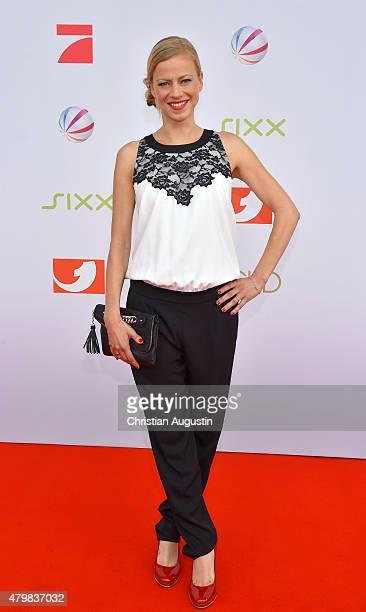 Anneke Duerkopp attends the program presentation of the television channel ProSiebenSat1 at Hamburg Cruise Centre Altona on July 7 2015 in Hamburg...