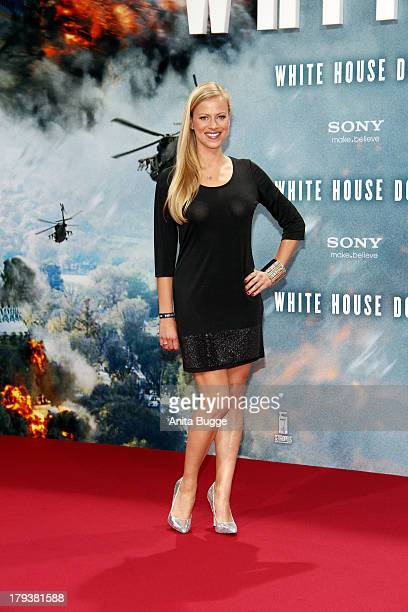 Anneke Duerkopp attends the 'White House Down' Germany premiere at CineStar on September 2 2013 in Berlin Germany