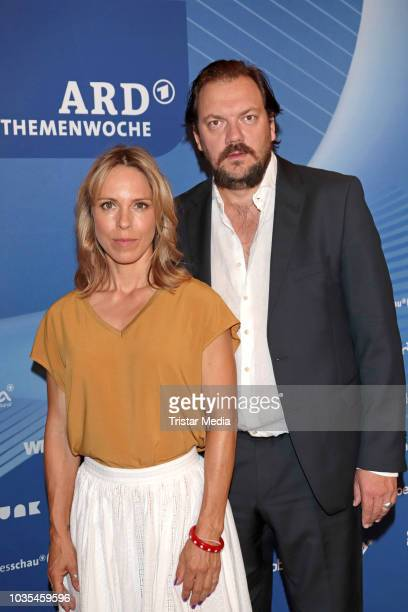 Anneke Kim Sarnau and Charly Huebner attend the photocall for ARD theme week 'Gerechtigkeit' on September 18 2018 in Hamburg Germany
