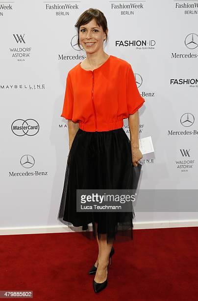 Anneke Kim Sarnau attends the Minx by Eva Lutz show during the MercedesBenz Fashion Week Berlin Spring/Summer 2016 at Brandenburg Gate on July 8 2015...