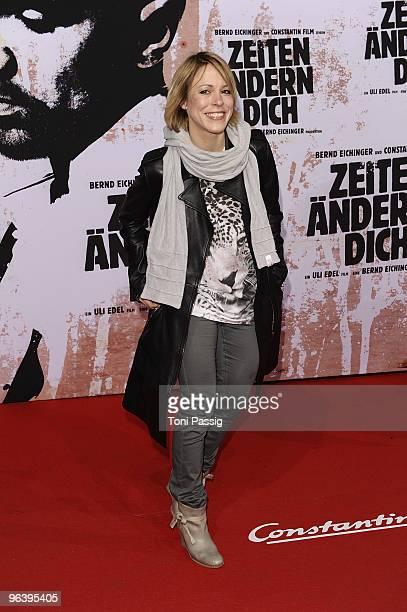 Anneke Kim Sarnau attends the premiere of Zeiten aendern Dich on February 3 2010 in Berlin Germany