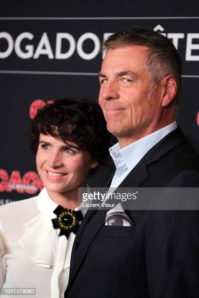 AnneLaure Gruet and Bruno Gaccio attend 'Chicago' Paris Premiere at Theatre Mogador on September 26 2018 in Paris France