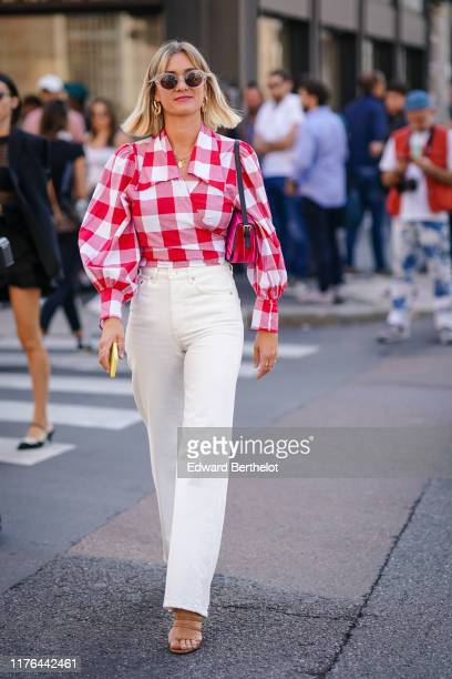 AnneLaure Mais attends the Ermanno Scervino show at Milan Fashion Week Spring Summer 2020 on September 21 2019 in Milan Italy