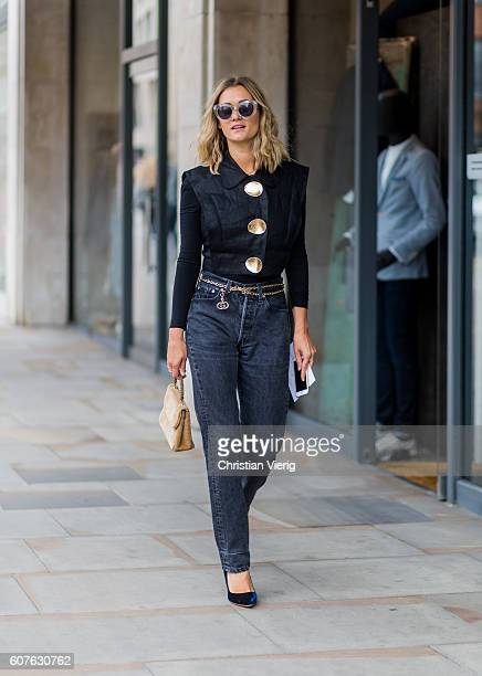 AnneLaure Mais outside Topshop during London Fashion Week Spring/Summer collections 2017 on September 18 2016 in London United Kingdom