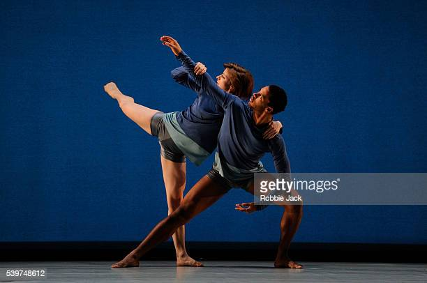 """Anneli Binder and Ira Mandela Siobhan in the Richard Alston Dance Company's production of Martin Lawrance's """"To Dance And Skylark"""" at Sadlers Wells..."""