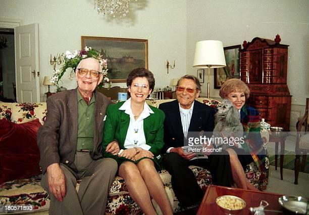Anneliese Rothenberger Graf Lennart Bernadotte Ehefrau Gräfin Sonja Gerd WDieberitz Schloß Mainau Weisser Saal Insel Mainau/Bodensee Antik