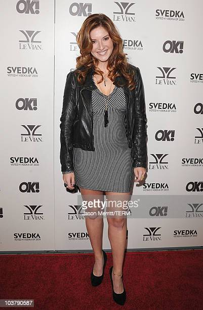 Anneliese van der Pol arrives at the OK Magazine USA 5th Anniversary Party on September 1 2010 in Hollywood California