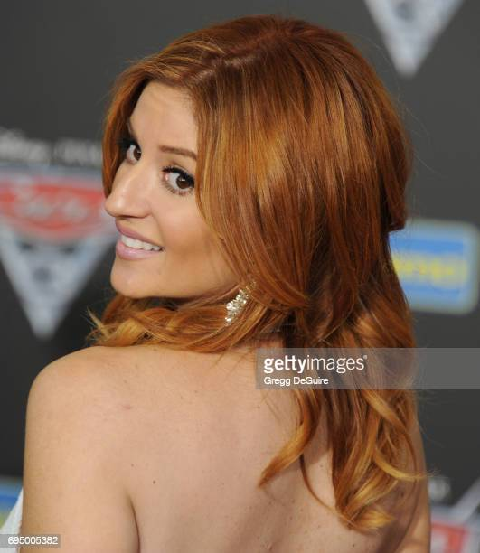 Anneliese van der Pol arrives at the premiere of Disney And Pixar's 'Cars 3' at Anaheim Convention Center on June 10 2017 in Anaheim California
