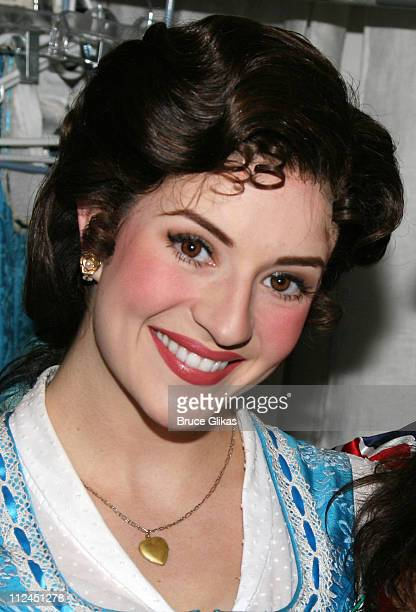 Anneliese van der Pol as 'Belle' during RavenSymone's visit to the set of 'Beauty and the Beast' on Broadway at the Lunt Fontanne Theater July 6 2007...