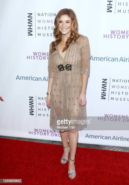 Anneliese van der Pol attends the National Women's History Museum's 7th Annual Women Making History Awards held at The Beverly Hilton Hotel on...