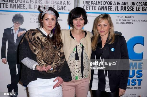 Annelise Hesme Clotilde Hesme and Elodie Hesme attend the 'JC Comme Jesus Christ' Paris premiere at the UGC Cine Cite des Halles on February 6 2012...