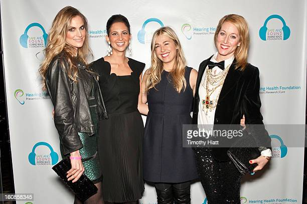 Annelise Peterson Natasha Boucai Melanie Charlton and Janet Gorgone attend the Hearing Health Foundation's An Intimate Evening with Cyndi Lauper at...