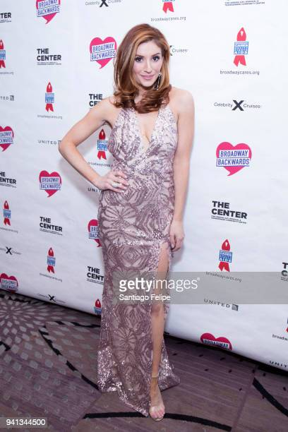 Annelises Van Der Pol attends the 2018 Broadway Backwards after party at New York Marriott Marquis Hotel on April 2 2018 in New York City