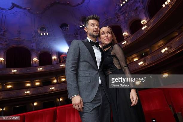 Annemarie and Wayne Carpendale are seen at the GQ Men of the year Award 2016 show at Komische Oper on November 10 2016 in Berlin Germany