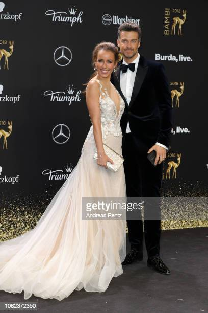Annemarie and Wayne Carpendale attend the 70th Bambi Awards at Stage Theater on November 16 2018 in Berlin Germany
