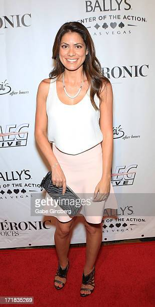 AnneMarie Angelil arrives at the premiere of the show 'Veronic Voices' at Bally's Las Vegas on June 28 2013 in Las Vegas Nevada