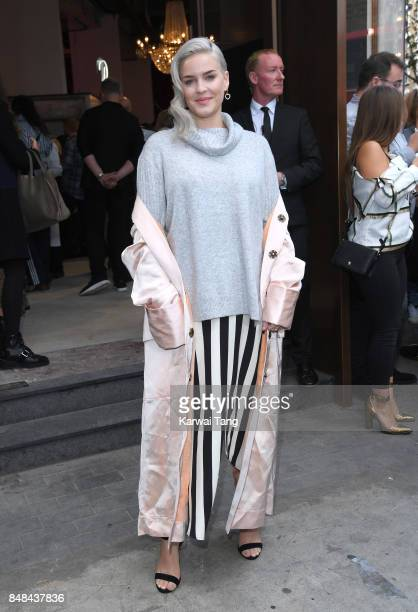 Anne-Marie arrives for the TOPSHOP Fashion show during London Fashion Week September 2017 on September 17, 2017 in London, England.