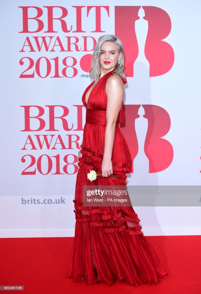 Anne-Marie attending the Brit Awards at the O2 Arena, London