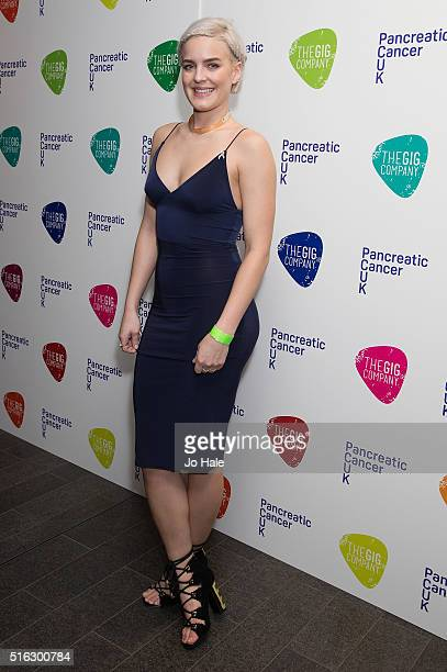 AnneMarie attends 'An Evening With Suggs And Friends' in aid of pancreatic cancer at Emirates Stadium on March 17 2016 in London England