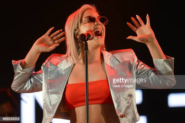 AnneMarie attends Day 2 of BBC Radio 1's Big Weekend 2017 at Burton Constable Hall on May 28 2017 in Hull United Kingdom