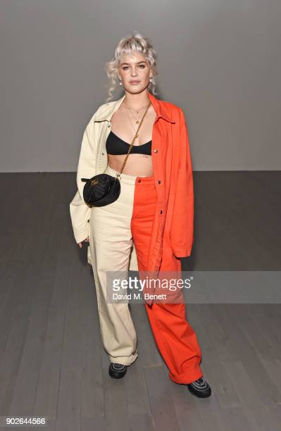 AnneMarie attends the Bobby Abley show during London Fashion Week Men's January 2018 at BFC Show Space on January 8 2018 in London England