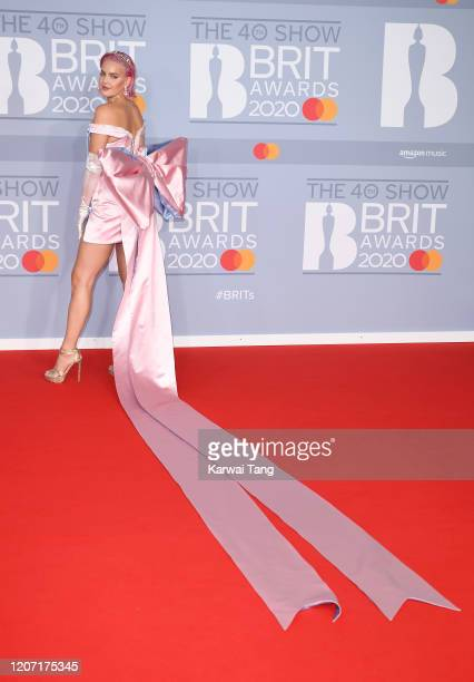AnneMarie attends The BRIT Awards 2020 at The O2 Arena on February 18 2020 in London England