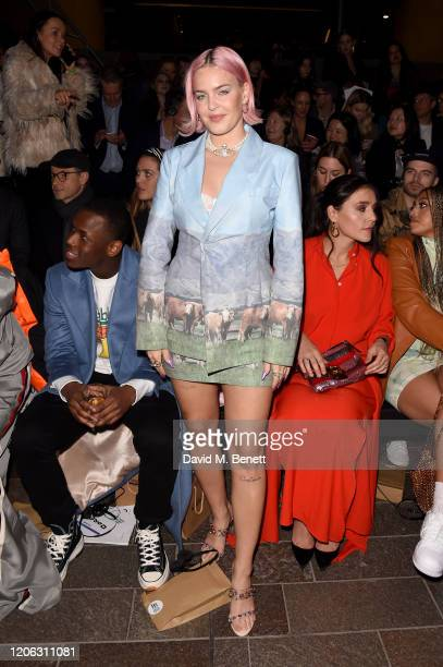 Anne-Marie attends the Central Saint Martins MA Fashion Show during London Fashion Week February 2020 at Central Saint Martins on February 14, 2020...