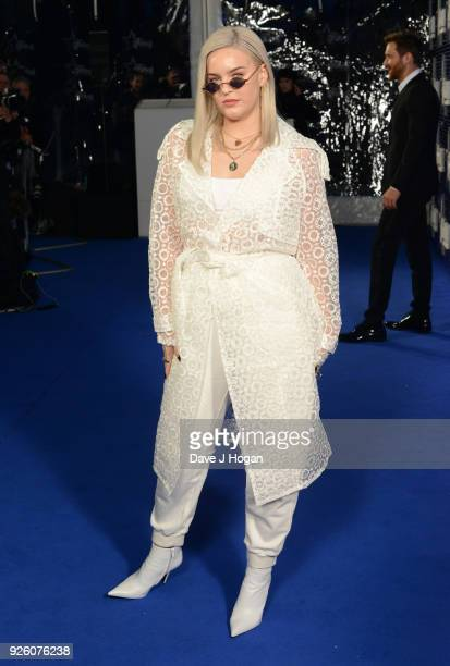AnneMarie attends The Global Awards 2018 at Eventim Apollo Hammersmith on March 1 2018 in London England