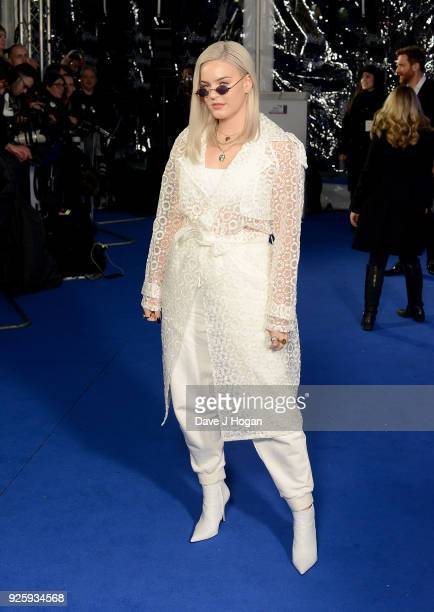 AnneMarie attends The Global Awards a brand new awards show hosted by Global the Media Entertainment Group at Eventim Apollo Hammersmith on March 1...