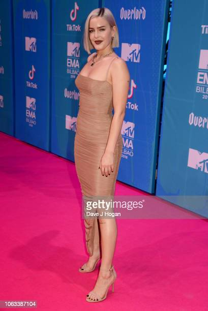 AnneMarie attends the MTV EMAs 2018 at the Bilbao Exhibition Centre on November 04 2018 in Bilbao Spain